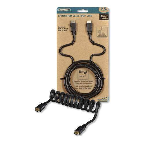 Eminent Twistable High Speed HDMI kabel 2.5m EM9136