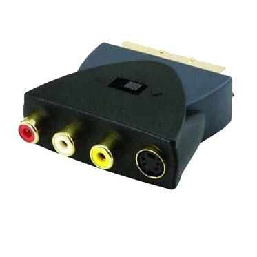 Profigold PGP3200 vergulde adapter 3X RCA naar VHS Scart