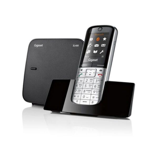 Siemens Gigaset SL400 – Single DECT telefoon – Aluminium