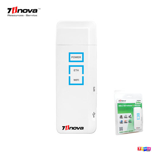 7inova 7R508 USB 150Mbps small mobile wifi router with WPS function
