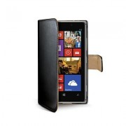 Celly Black Pu Wallet Case For Nokia Lumia 925 In Elegant Pu Leather