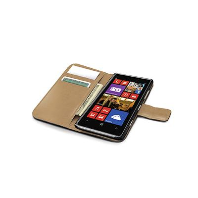 Celly Black Pu Wallet Case For Nokia Lumia 925 In Elegant Pu Leather 2