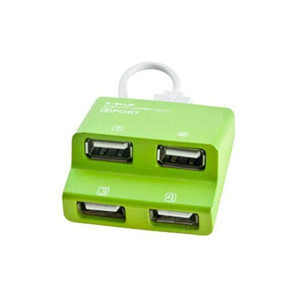 E-Blue Dynamic Purity Green 4-ports mini USB hub EHB038GN 2