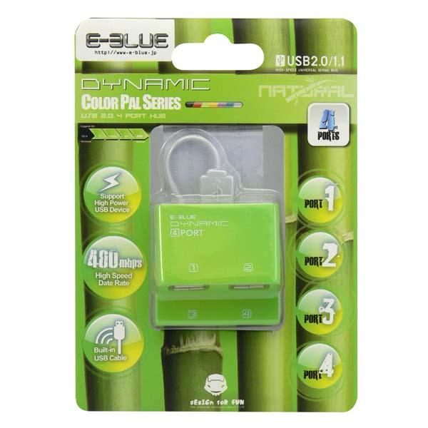 E-Blue Dynamic Purity Green 4-ports mini USB hub EHB038GN