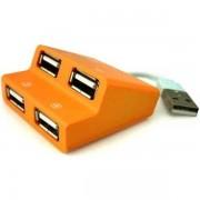 E-Blue Dynamic Purity Yellow 4-ports mini USB hub EHB038YE 2
