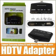HDTV Adapter and OTG Card Reader for Samsung Smartphone 2