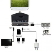HDTV Adapter and OTG Card Reader for Samsung Smartphone 3