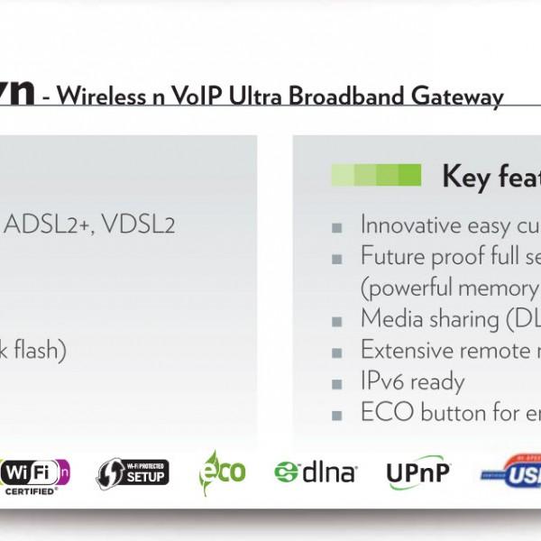 Technicolor TG788vn V2 WiFi VoIP Multi ADSL2+ VDSL2 modem 2