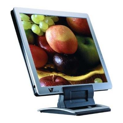Videoseven L17FM 17inch LCD Monitor Silver met speakers