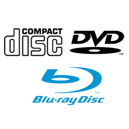 CD, DVD en Blu-Ray spelers