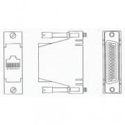 ADB0025 RJ45 Female to DB25 Male Crossover Adapter 3