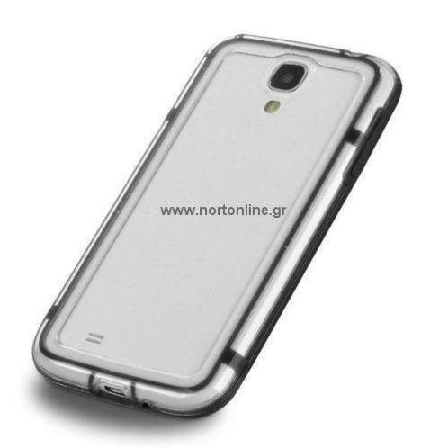 Bumper Samsung i9500 Galaxy S4 Blue Transparant