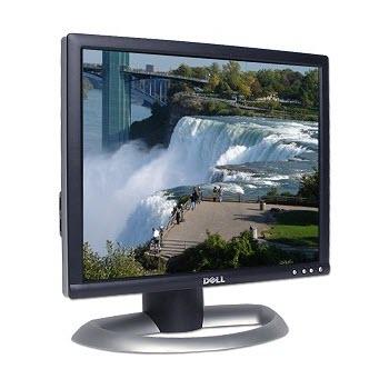 Dell 1704FPTT 17 inch DVI LCD Monitor met USB Hub zilver zwart