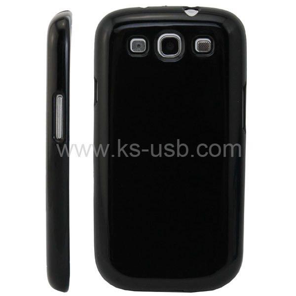 HQ Glossy TPU Cover Case voor Samsung Galaxy S3 i9300 zwart