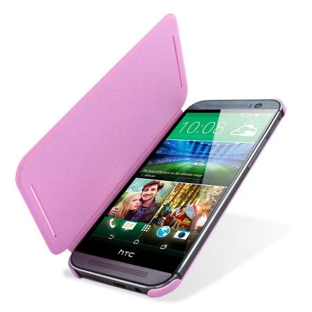 HTC One M8 Double Dip Flip Case HC V941 Roze 7