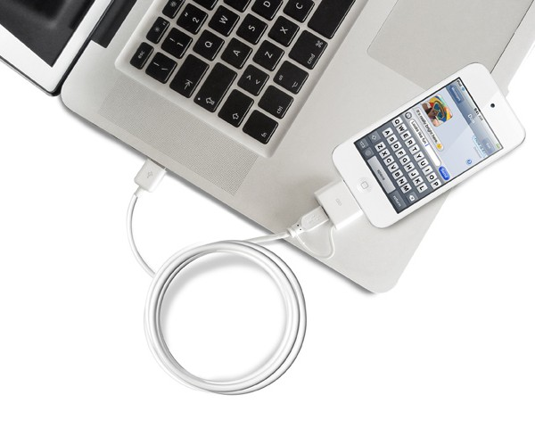 Puro Power & data cable apple – micro 100 cm wit 2