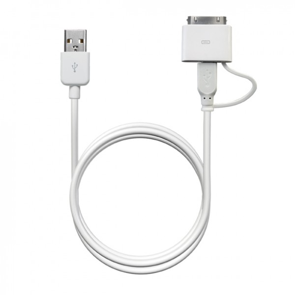 Puro Power & data cable apple – micro 100 cm wit 3
