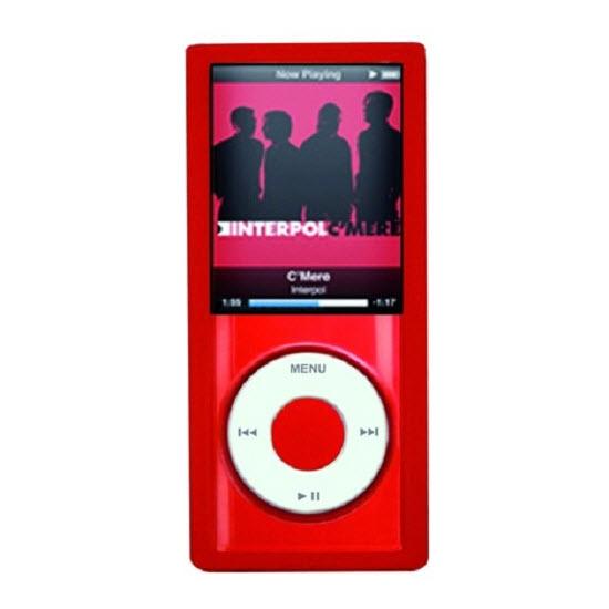 Puro iPod Nano 4 crystal silicon sleeve red