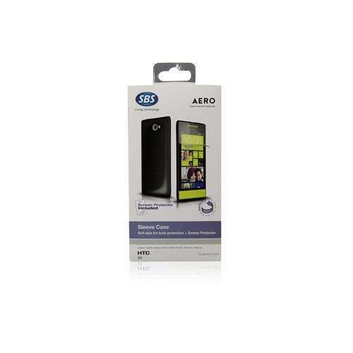 SBS Aero case for HTC 8S black met screenprotector 2