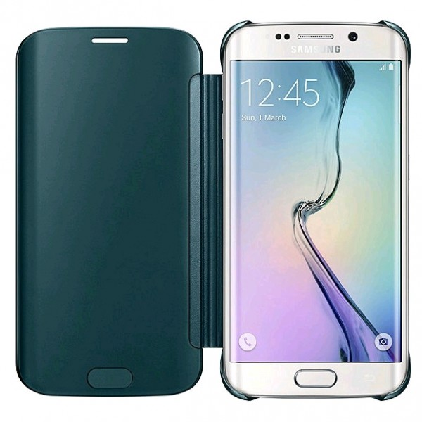 Samsung Clear View Cover voor Samsung Galaxy S6 Edge groen 3