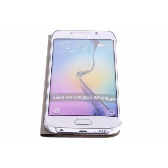 Samsung Flip Wallet Galaxy S6 edge Gold 4