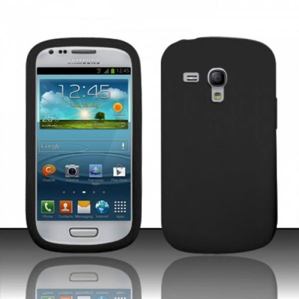 Silicone Cover for SAMSUNG GALAXY S3 MINI i8190 zwart