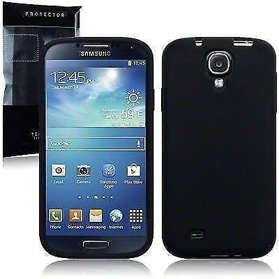 Terrapin Clear TPU Skin Case voor Samsung Galaxy S4 zwart