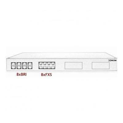XORCOM ASTRIBANK – 8 BRI + 8 FXS – XR0042 – 1U