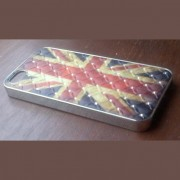 iPhone 5 cover Flag UK met diamant 2