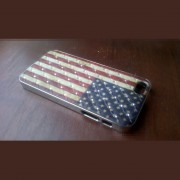 iPhone 5 cover Flag USA met diamant 2