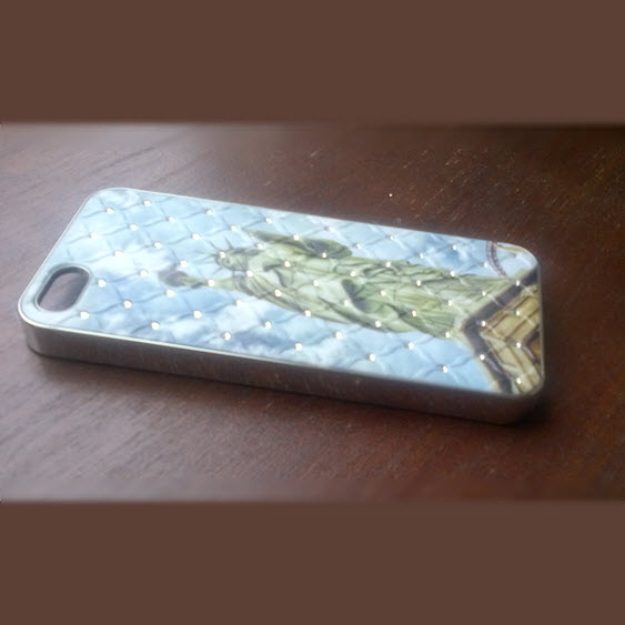 iPhone 5 cover Statue of Liberty met diamant 1