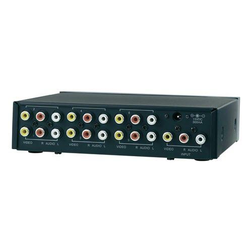 6 Port Composite-Splitter SpeaKa Connect AV-486 zwart