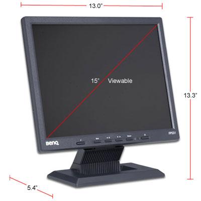 Benq FP531 15 inch lcd scherm 2