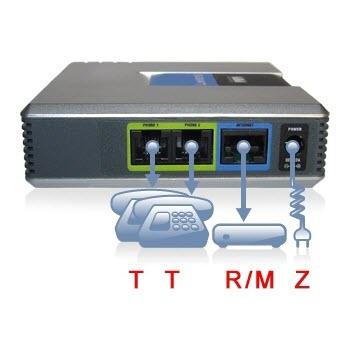 Cisco Linksys PAP2T-eu PAP2T VoIP telefoon adapter nieuw 2