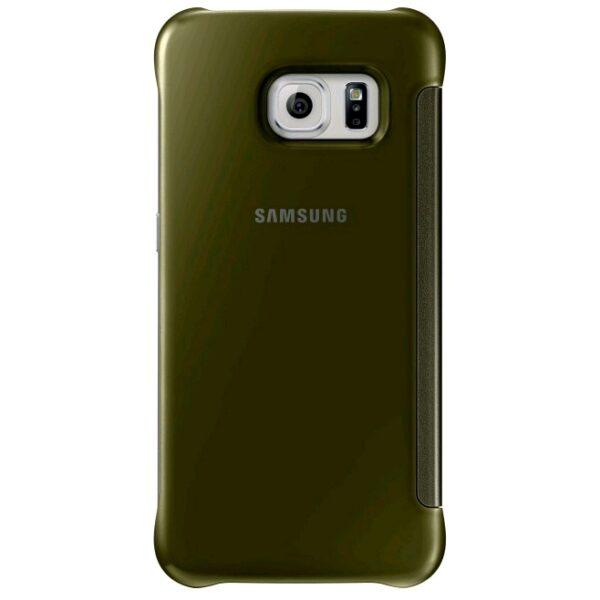 Samsung Galaxy S6 Edge Clear View Flip Case Goud 2