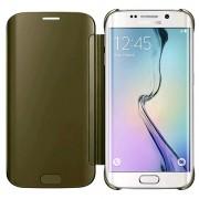 Samsung Galaxy S6 Edge Clear View Flip Case Goud 3