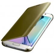 Samsung Galaxy S6 Edge Clear View Flip Case Goud 4