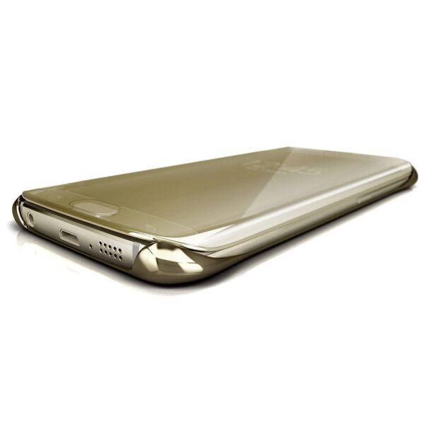 Samsung Galaxy S6 Edge Clear View Flip Case Goud 5