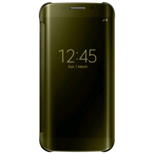 Samsung Galaxy S6 Edge Clear View Flip Case Goud