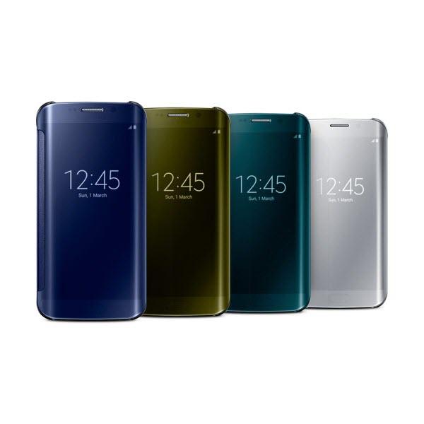 Samsung Galaxy S6 Edge Clear View Flip Origineel Zwart 4