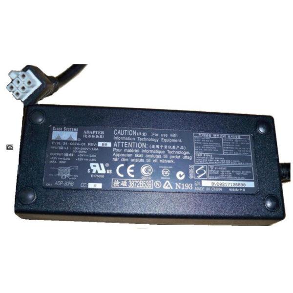 CISCO ADP-30RB AC ADAPTER 5V 3A 12VDC 2A -12V 0.2A 34-0874-01