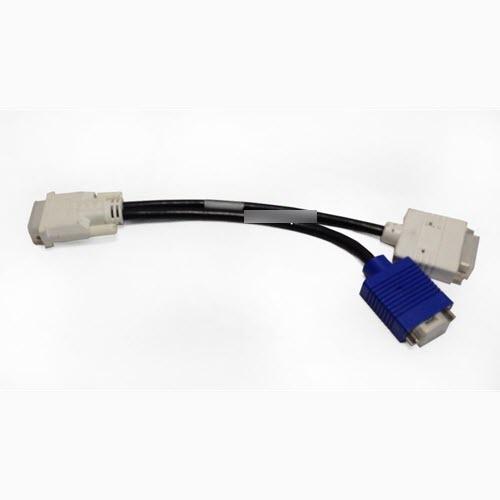 DVI male to DVI female + VGA adapter splitter kabel DPN OWU329