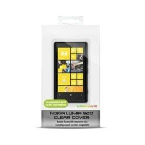 Nokia lumia 920 puro snap-on cover – clear black