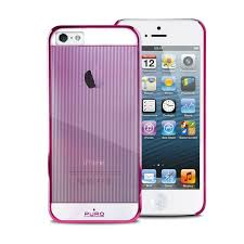 Puro iPhone 5 5s Mirror cover pink