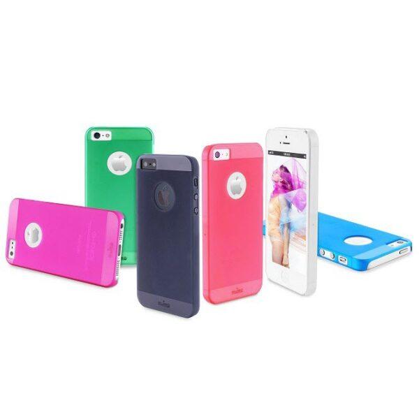 Puro iPhone 5 5s Rainbow Cover white 2