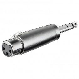 XLR adapter XLR naar 6,35 mm jack