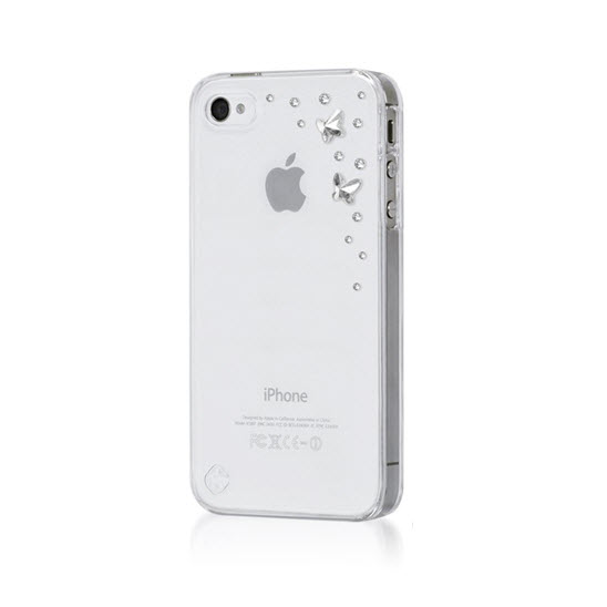 Bling my Thing iPhone 4(s) Butterfly Crystal transparant