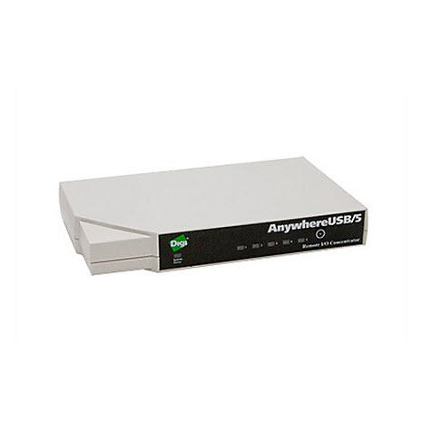 Digi AnywhereUSB Ethernet to 5 USB Ports Hub