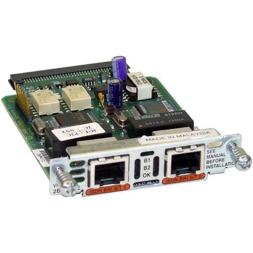 Cisco VIC2-2BRI-NT TE Two-port Voice Interface Card
