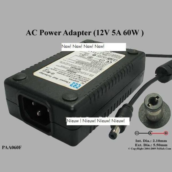 Channel Well PAA060F 12V 5A power adapter